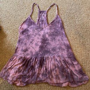 american eagle purple tie dye tank top